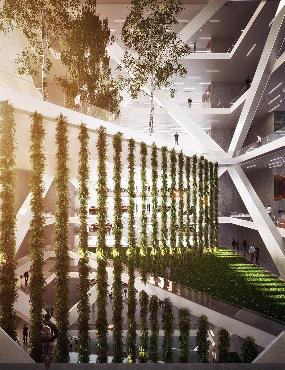 Rendered Vertical Greenspace